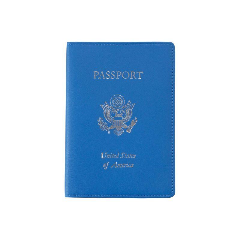 ロイスレザー メンズ 財布 アクセサリー RFID Blocking Leather Passport Case Royce Blue