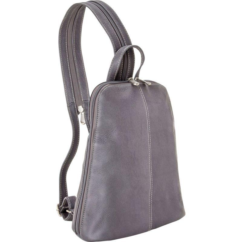 ルドネレザー メンズ ハンドバッグ バッグ U-Zip Women's Sling/Back Pack Gray