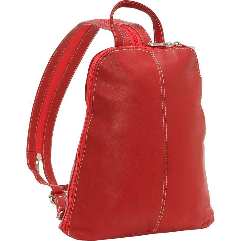 ルドネレザー メンズ ハンドバッグ バッグ U-Zip Women's Sling/Back Pack Red