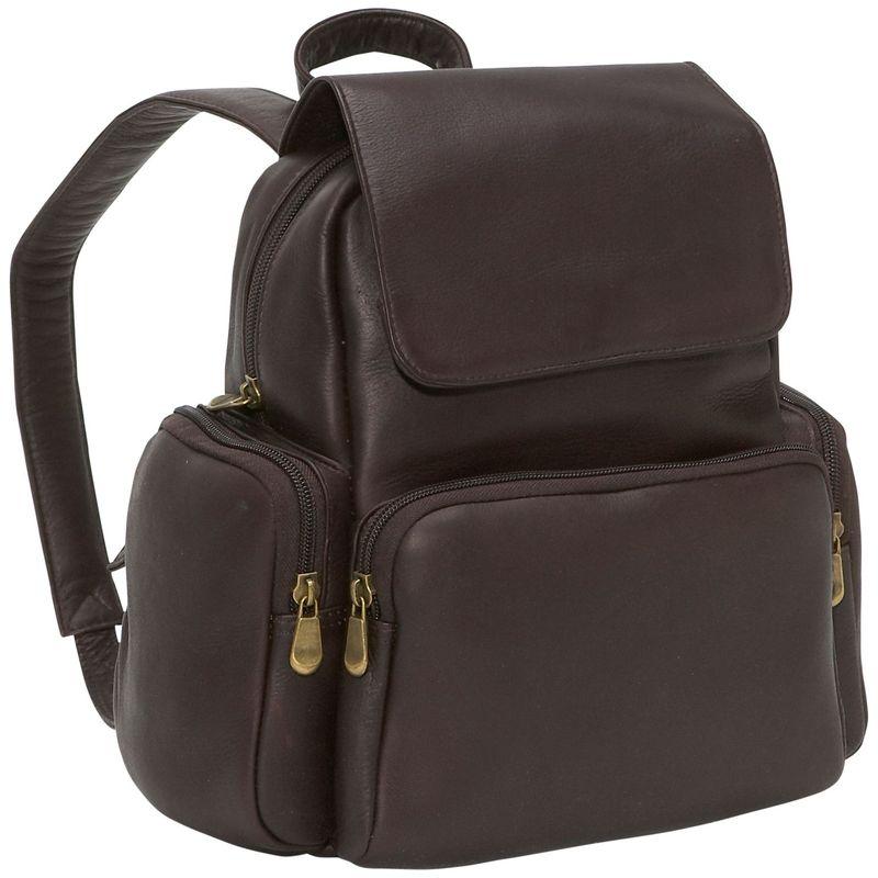 ルドネレザー メンズ ハンドバッグ バッグ Women's Multi Pocket Back Pack Purse Cafe