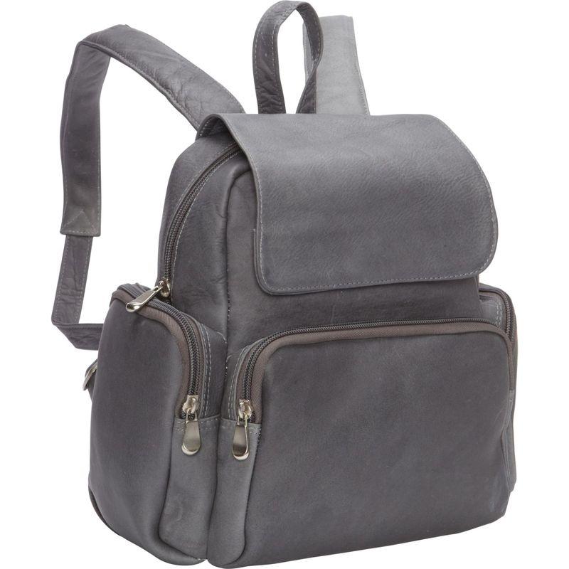 ルドネレザー メンズ ハンドバッグ バッグ Women's Multi Pocket Back Pack Purse Gray