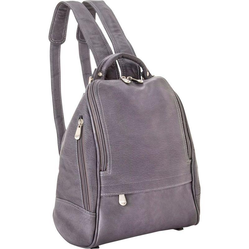 ルドネレザー メンズ ハンドバッグ バッグ U Zip Mid Size Backpack/Purse Gray