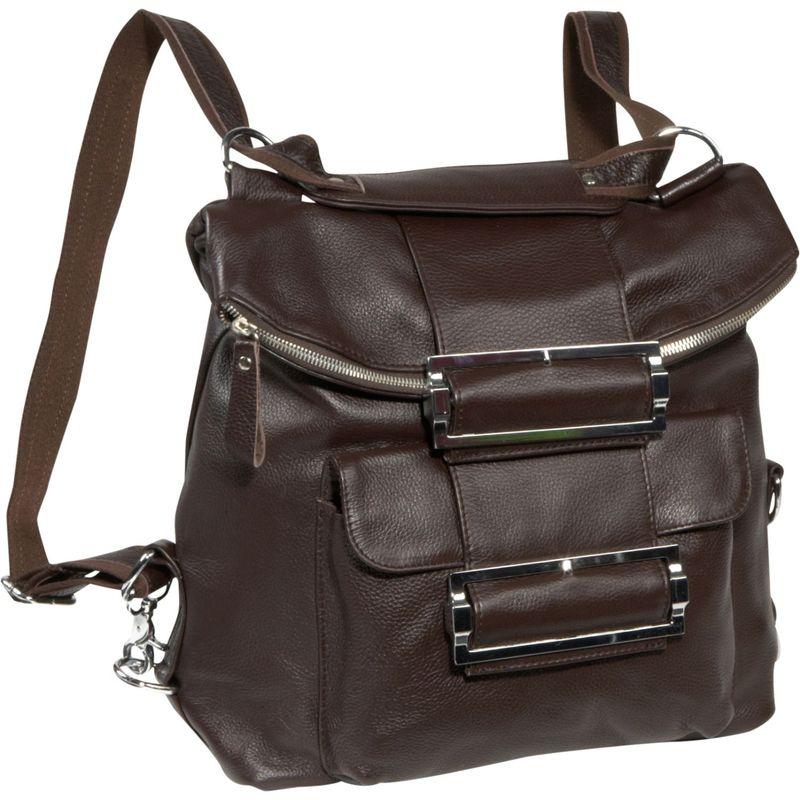 アメリ メンズ ハンドバッグ バッグ Rococo Leather Handbag / Backpack Espresso