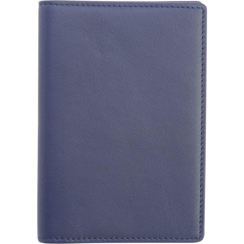 ロイスレザー メンズ 財布 アクセサリー RFID Blocking Travel Document Case Blue