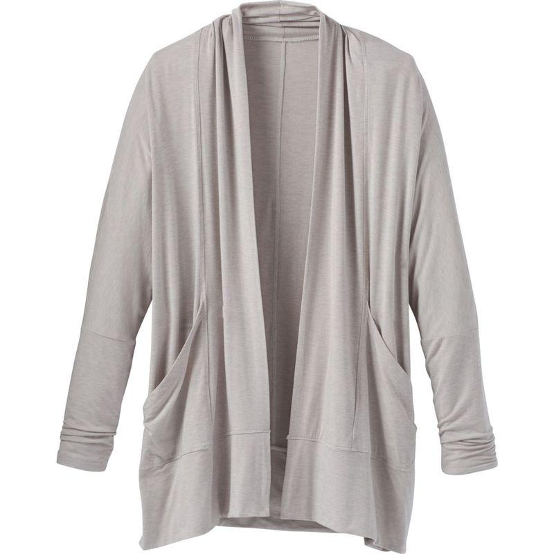 プラーナ レディース ニット・セーター アウター Foundation Wrap S - Light Grey Heather