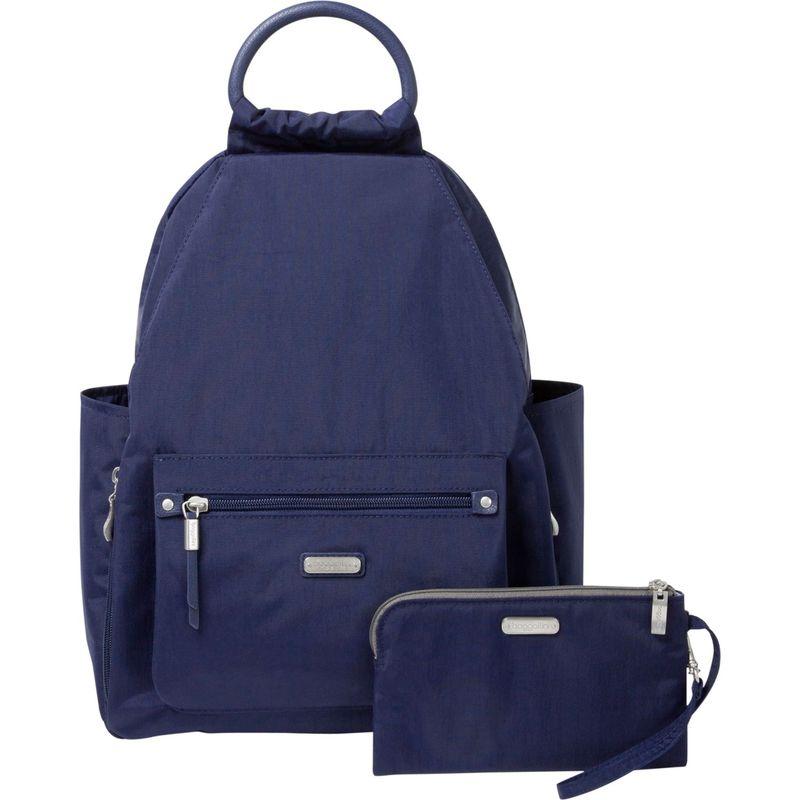バッガリーニ メンズ ハンドバッグ バッグ All Day Backpack with RFID Phone Wristlet Navy