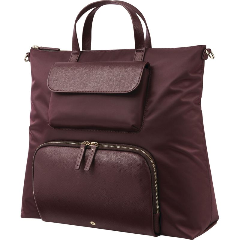 サムソナイト メンズ ハンドバッグ バッグ Encompass Womens Convertible Brief Laptop Backpack Bordeaux