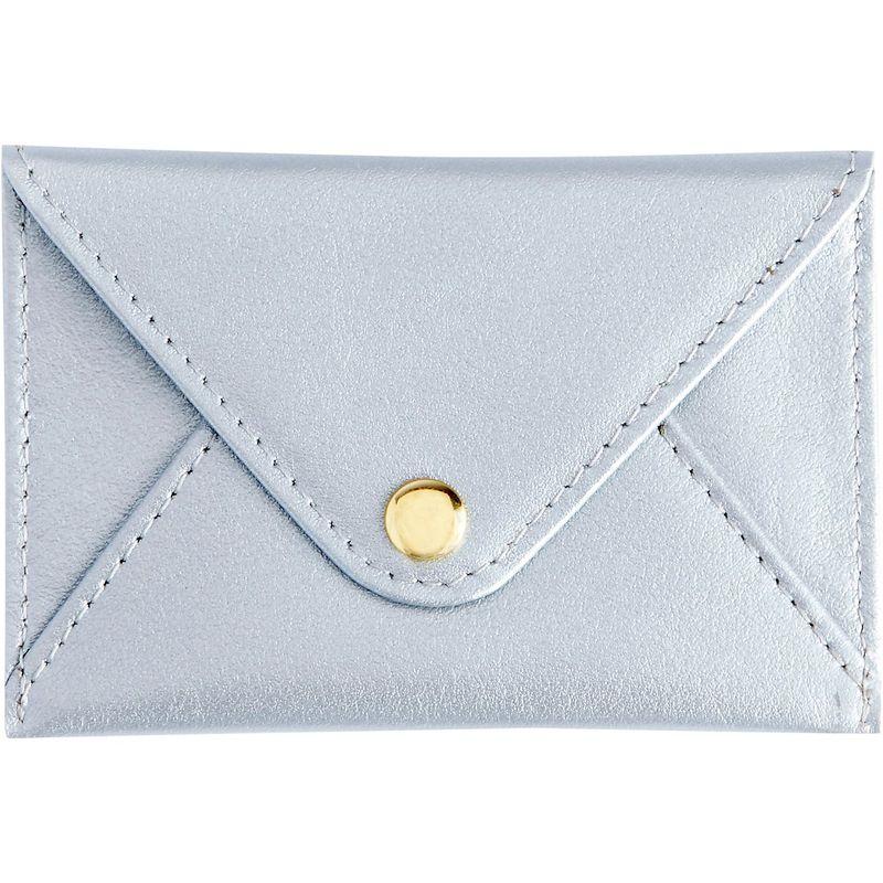 ロイスレザー メンズ 財布 アクセサリー Genuine Leather Envelope Card Case Silver