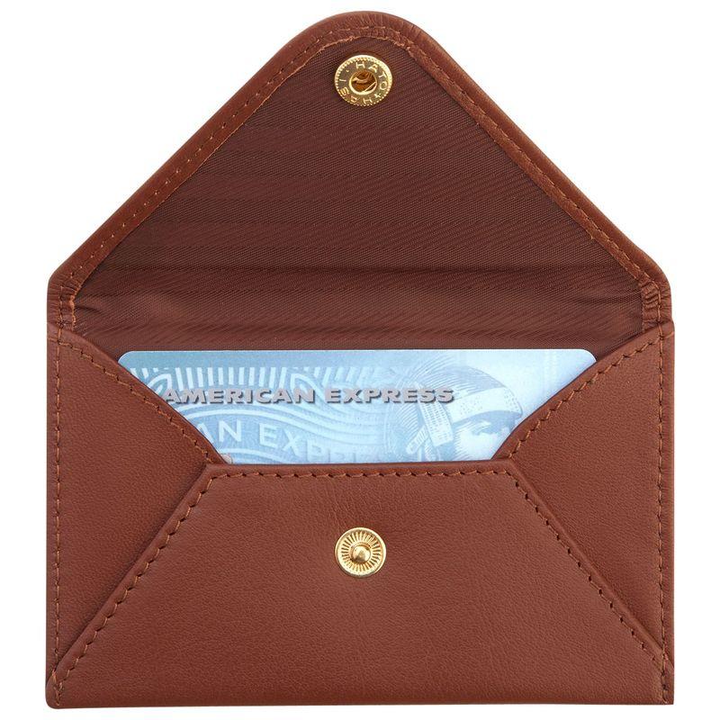 ロイスレザー メンズ 財布 アクセサリー Genuine Leather Envelope Card Case Tan