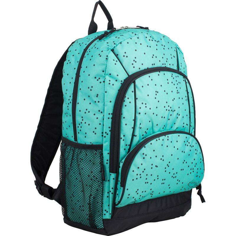 イーストポート メンズ バックパック・リュックサック バッグ Multi Pocket Casual Laptop Backpack Turquoise/Black Dots Print