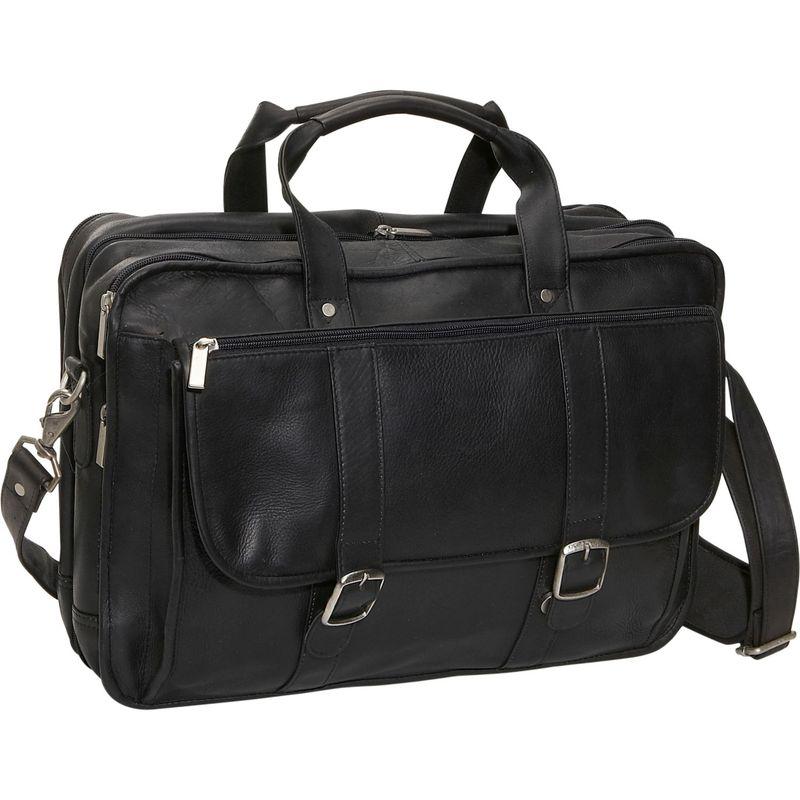 デビッドキング メンズ スーツケース バッグ Expandable Laptop Briefcase Black