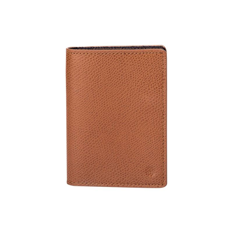 フック&アルバート メンズ 財布 アクセサリー Leather Vertical Bi-Fold Wallet Brown