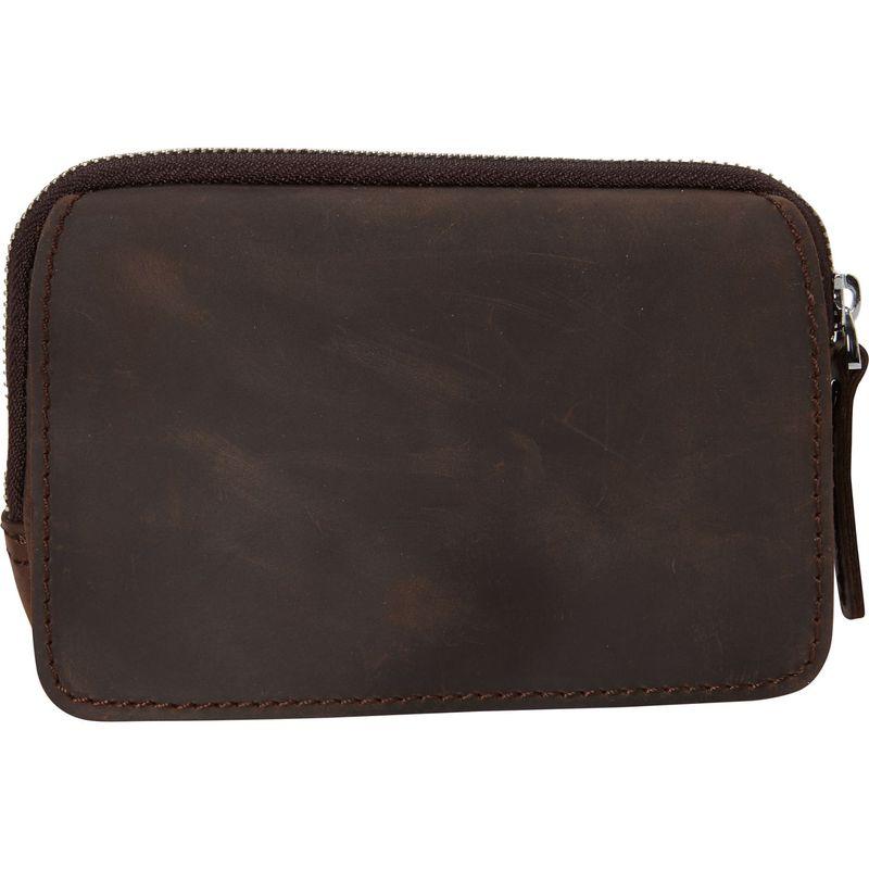 ヴァガボンドトラベラー メンズ ボディバッグ・ウエストポーチ バッグ Full Grain Leather Hand Clutch Waist Pack Dark Brown