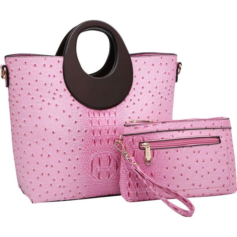ダセイン メンズ ハンドバッグ バッグ Rolled Handle Satchel with Matching Wristlet Pink