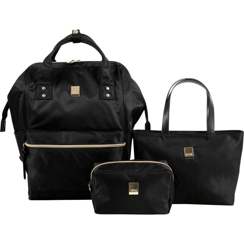 ジャイワールドニューヨーク メンズ ハンドバッグ バッグ Posy 3 Piece BackpackTotePouch Collection Black
