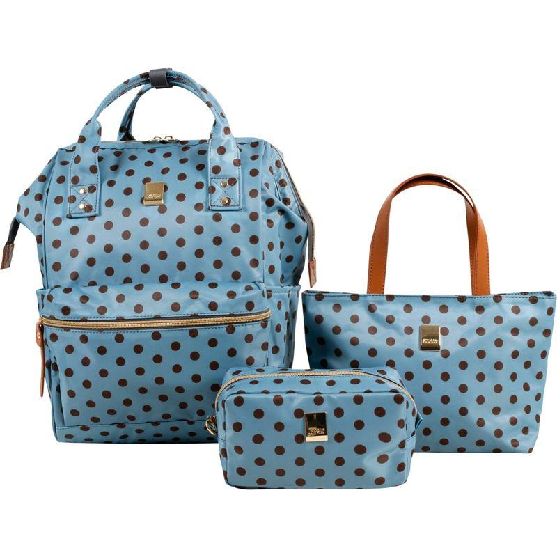 ジャイワールドニューヨーク メンズ ハンドバッグ バッグ Posy 3 Piece BackpackTotePouch Collection Grey Buttons