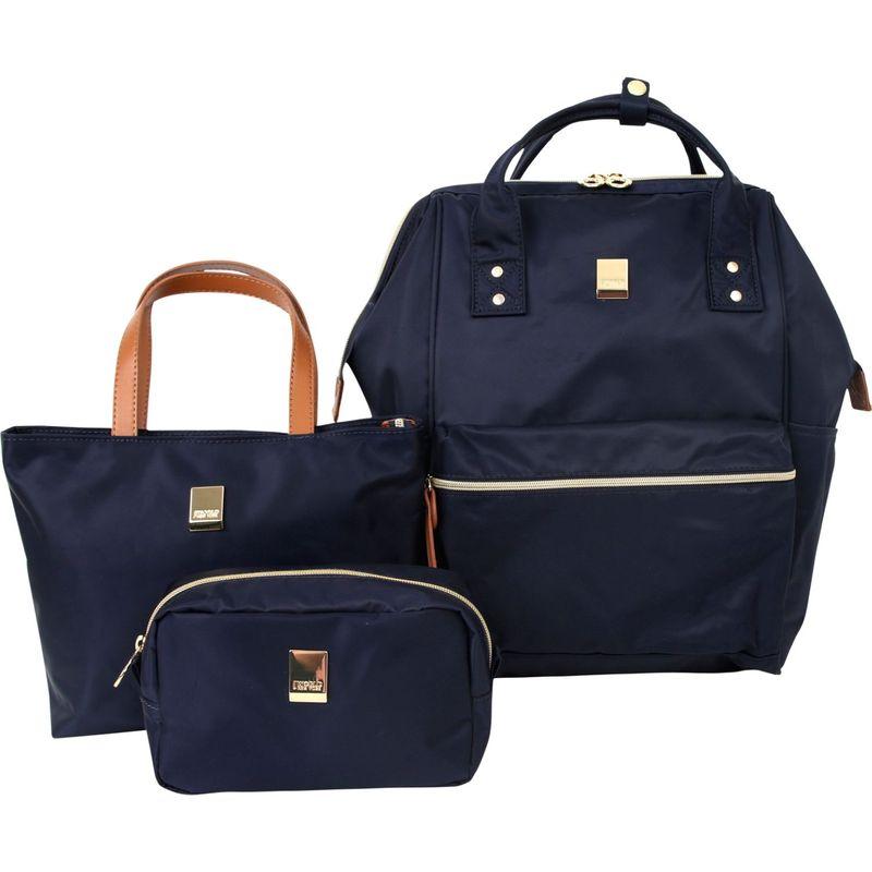 ジャイワールドニューヨーク メンズ ハンドバッグ バッグ Posy 3 Piece BackpackTotePouch Collection Navy