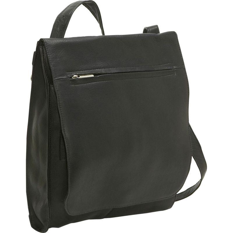 ルドネレザー メンズ ハンドバッグ バッグ Organizer Shoulder Bag/Back Pack Black