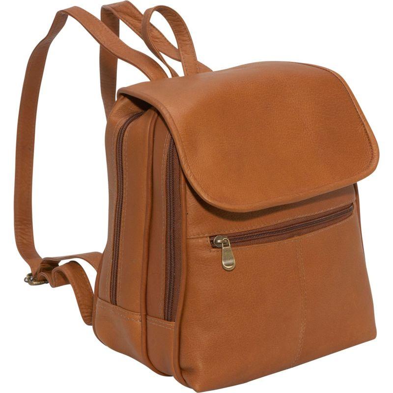 ルドネレザー メンズ ハンドバッグ バッグ Everything Womans Backpack/Purse Tan