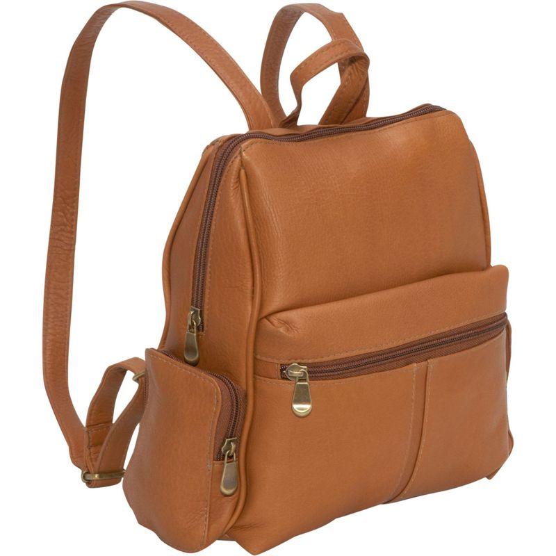 ルドネレザー メンズ ハンドバッグ バッグ Zip Around Backpack/Purse Tan