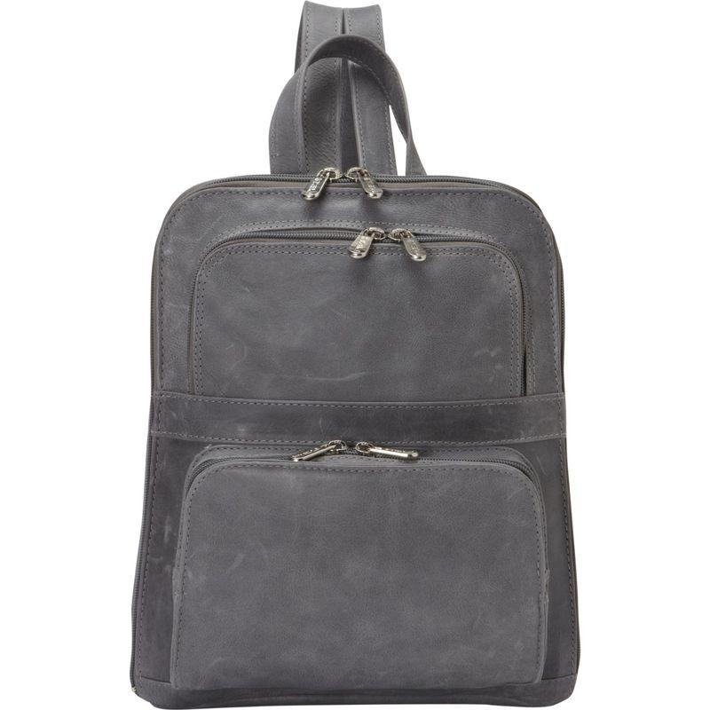ピエール メンズ ハンドバッグ バッグ Slim Tablet Laptop Backpack w/Front Pockets Charcoal