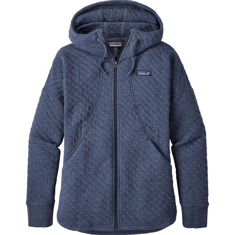 パタゴニア レディース ニット・セーター アウター Womens Cotton Quilt Hoody M - Dolomite Blue - Discontinued