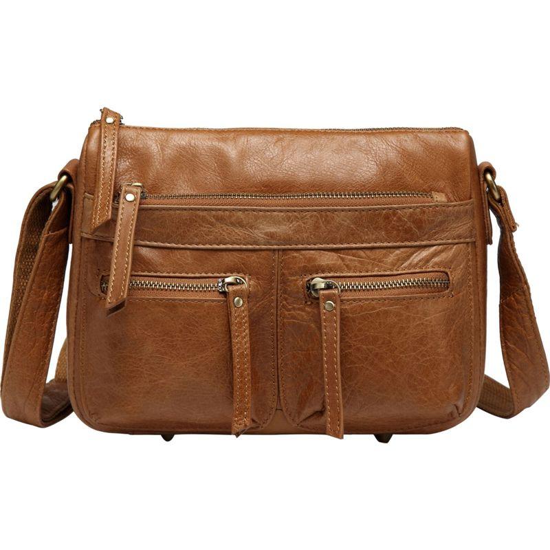 ビンセンゾレザー メンズ ボディバッグ・ウエストポーチ バッグ Zinnia Leather Crossbody Handbag Light Brown