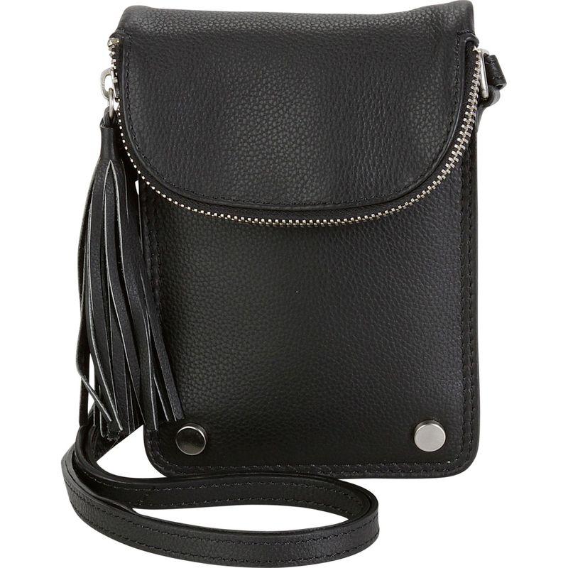 ハダキ メンズ ボディバッグ・ウエストポーチ バッグ Mobile Leather Crossbody Black