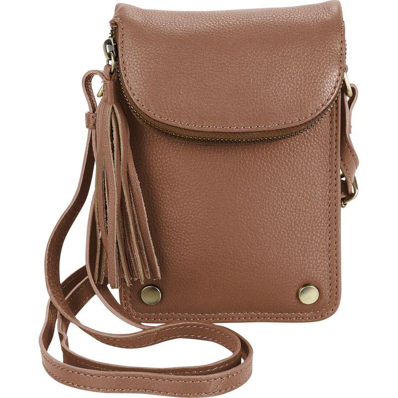 ハダキ メンズ ボディバッグ・ウエストポーチ バッグ Mobile Leather Crossbody Light Brown