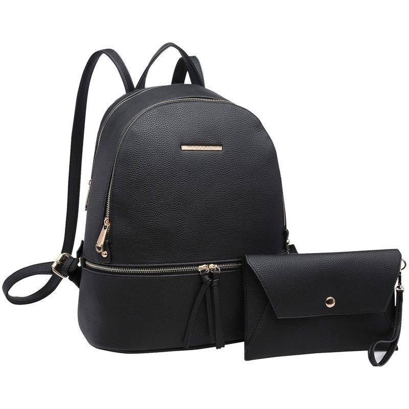 ダセイン メンズ ハンドバッグ バッグ Leather Backpack with Matching wristlet Black