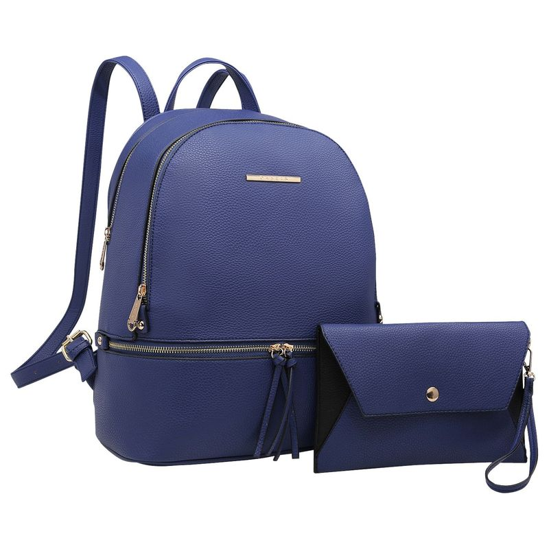ダセイン メンズ ハンドバッグ バッグ Leather Backpack with Matching wristlet Blue
