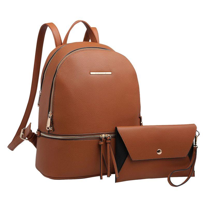 ダセイン メンズ ハンドバッグ バッグ Leather Backpack with Matching wristlet Coffee
