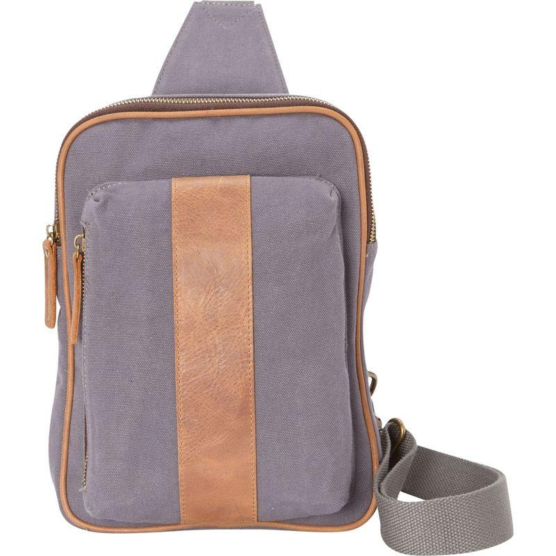 ヴァガボンドトラベラー メンズ ショルダーバッグ バッグ Cotton Canvas Chest Pack Travel Bag Blue Grey
