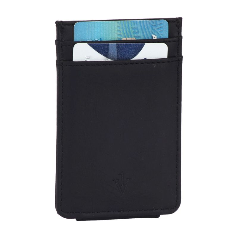 ワンボイス メンズ 財布 アクセサリー The Striker RFID Blocking Leather Card Holder & Magnetic Money Clip Black