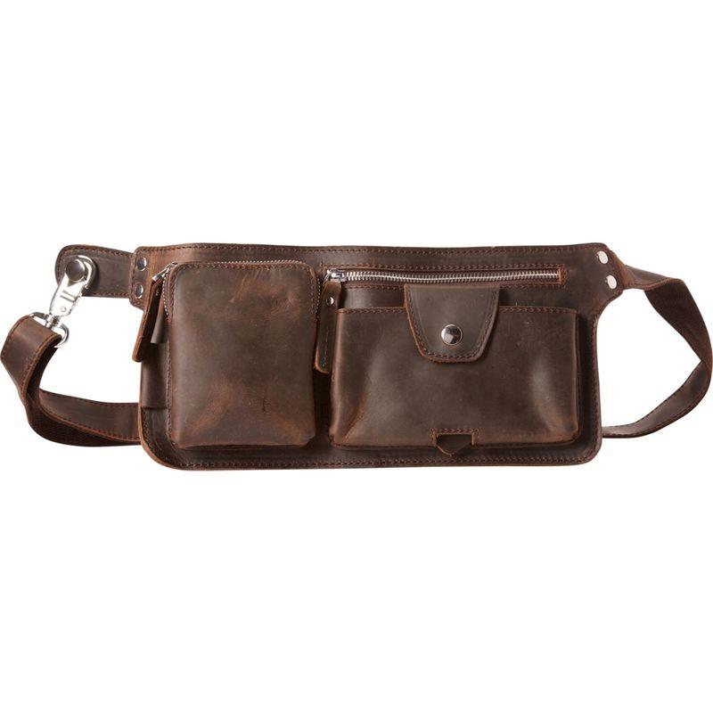 ヴァガボンドトラベラー メンズ ボディバッグ・ウエストポーチ バッグ Slim Long Shape Waist Bag Dark Brown