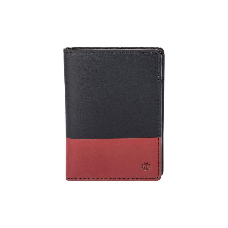 フック&アルバート メンズ 財布 アクセサリー Leather Vertical BiFold Black/Red
