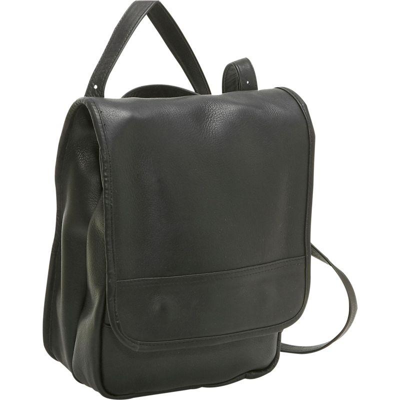 ルドネレザー メンズ ハンドバッグ バッグ Convertible Back Pack Shoulder Bag Black