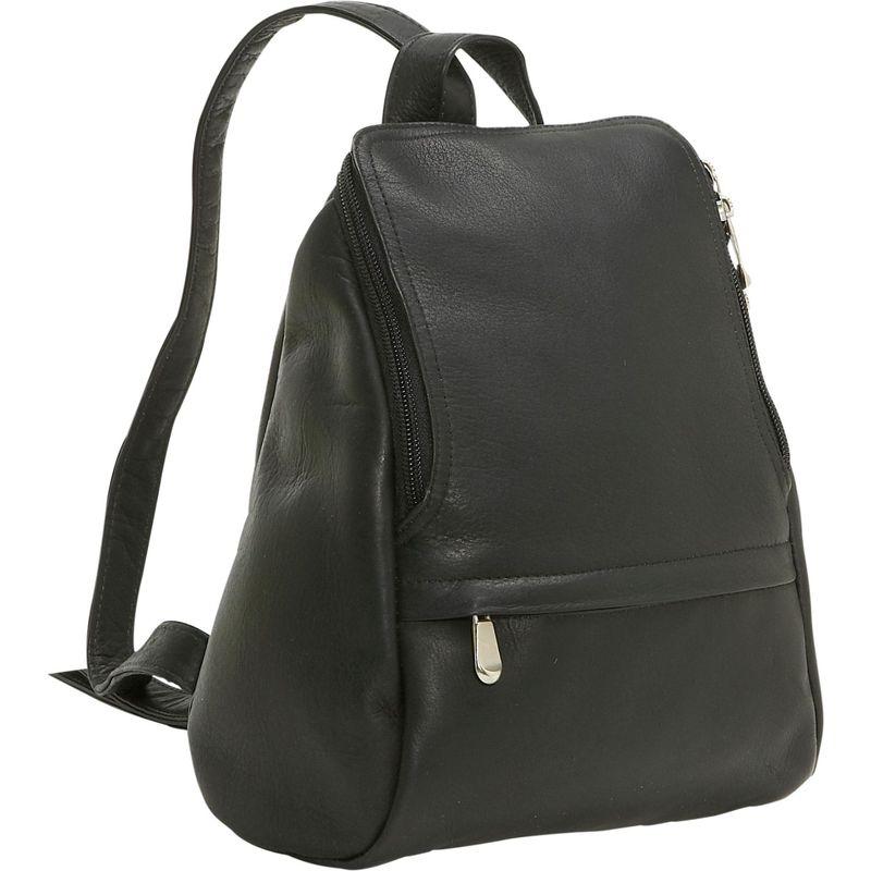 ルドネレザー メンズ ハンドバッグ バッグ U-Zip Mini Back Pack Black