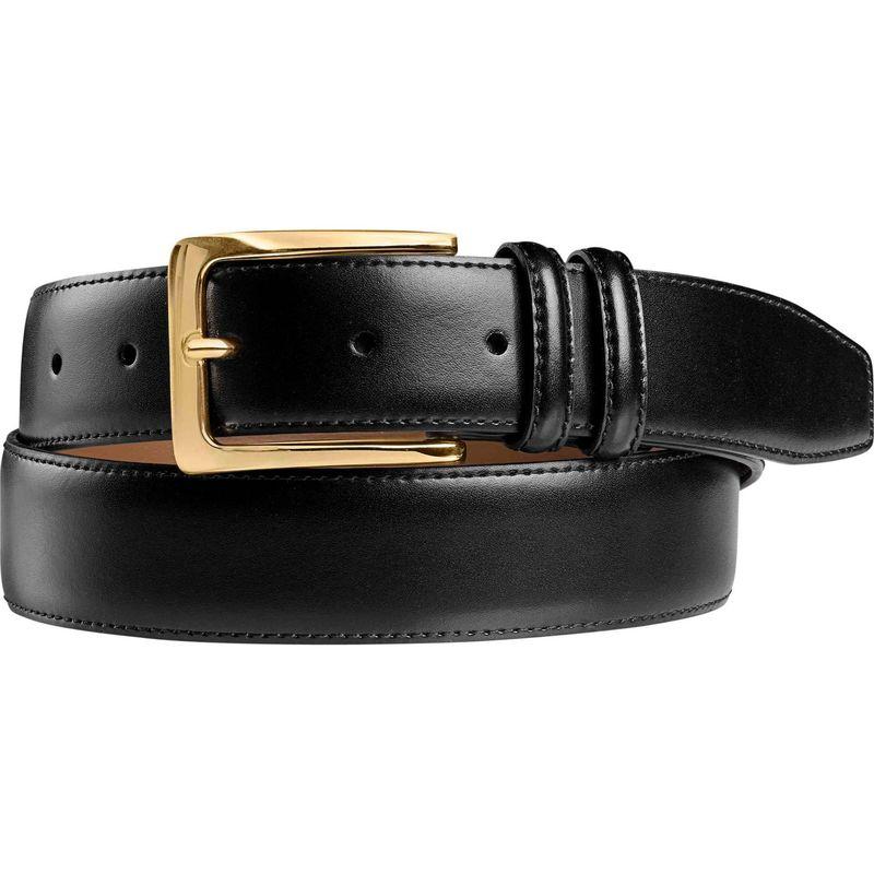 ジョンストンアンドマーフィー メンズ ベルト アクセサリー Mens Smooth Basic Belt 32 - Black
