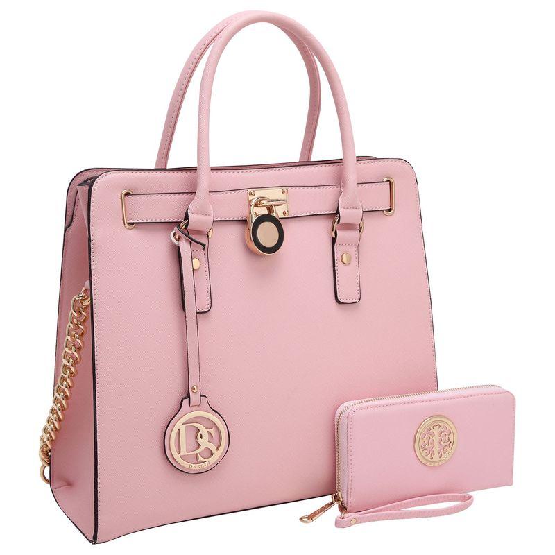 ダセイン メンズ ハンドバッグ バッグ Satchel with Matching Wallet Pink