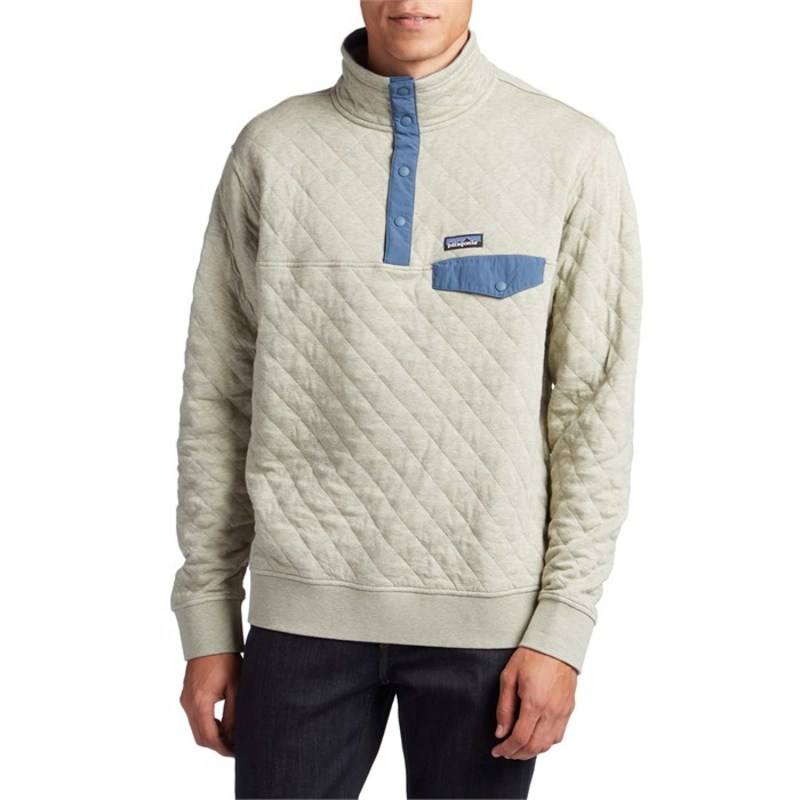 パタゴニア メンズ パーカー・スウェット アウター Patagonia Cotton Quilt Snap-T? Pullover Shale