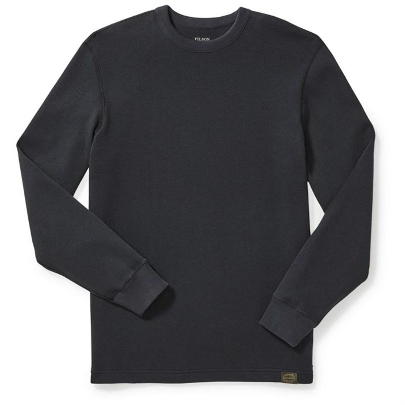 フィルソン メンズ Tシャツ トップス Filson Waffle-Knit Thermal Crew Shirt Navy