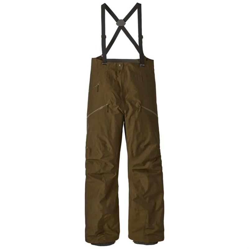 パタゴニア メンズ カジュアルパンツ ボトムス Patagonia PowSlayer Bib Pants Sediment