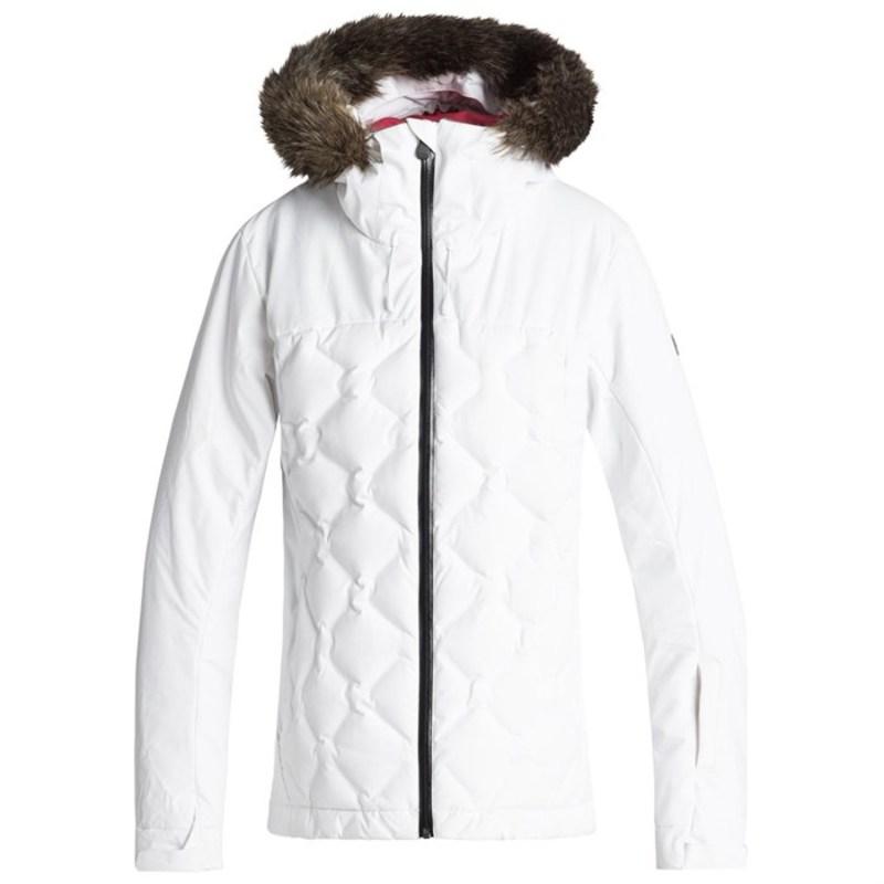 ロキシー レディース ジャケット・ブルゾン アウター Roxy Breeze Jacket - Women's Bright White