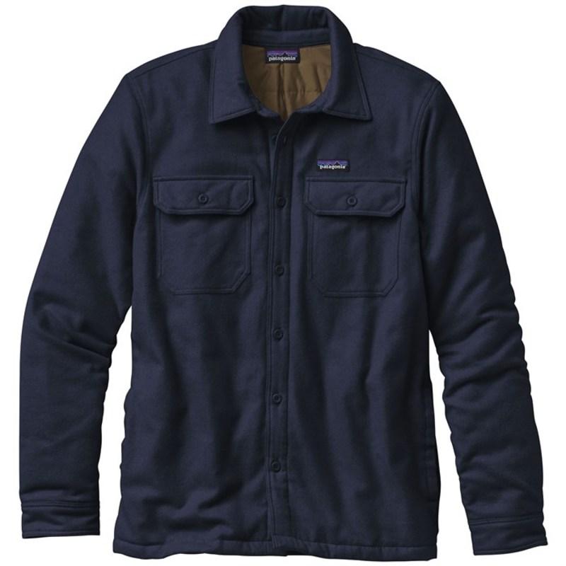 パタゴニア メンズ シャツ トップス Patagonia Insulated Fjord Flannel Jacket Navy Blue