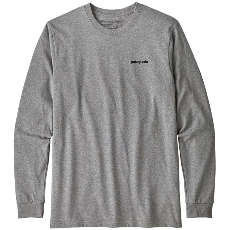 パタゴニア メンズ Tシャツ トップス Patagonia P-6 Logo Responsibili-Tee? Long-Sleeve T-Shirt Gravel Heather