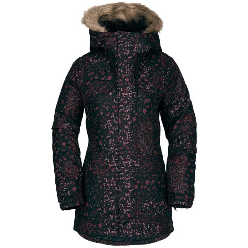 ボルコム レディース ジャケット・ブルゾン アウター Volcom Shadow Insulated Jacket - Women's Black Floral Print