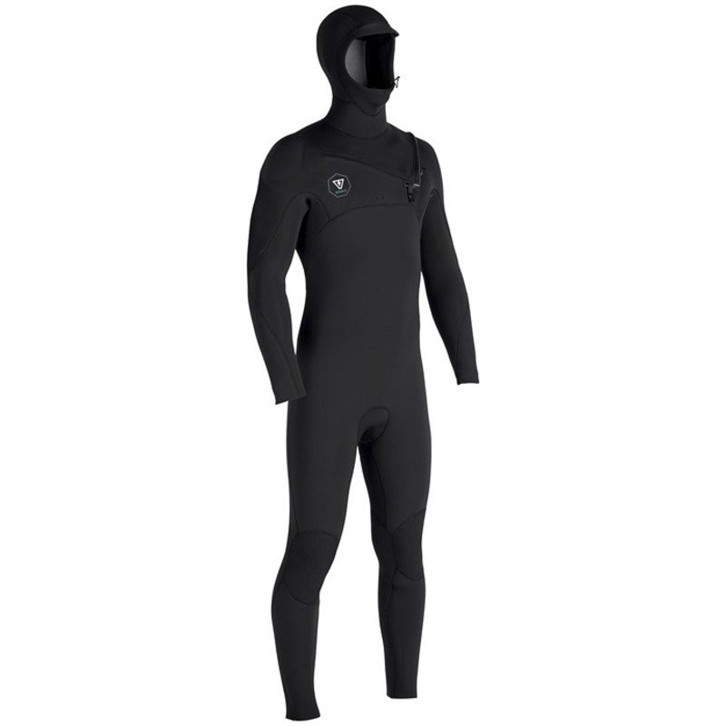 ヴィスラ メンズ 上下セット 水着 Vissla 7 Seas 5/4/3 Hooded Chest Zip Wetsuit Black With Jade
