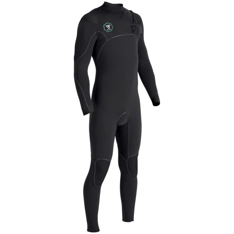 ヴィスラ メンズ 上下セット 水着 Vissla 7 Seas 4/3 Chest Zip Wetsuit Black with Jade