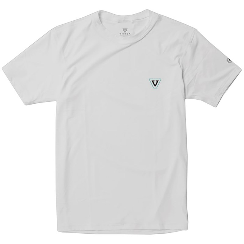ヴィスラ メンズ トップのみ 水着 Vissla All Time Short-Sleeve Surf Shirt White